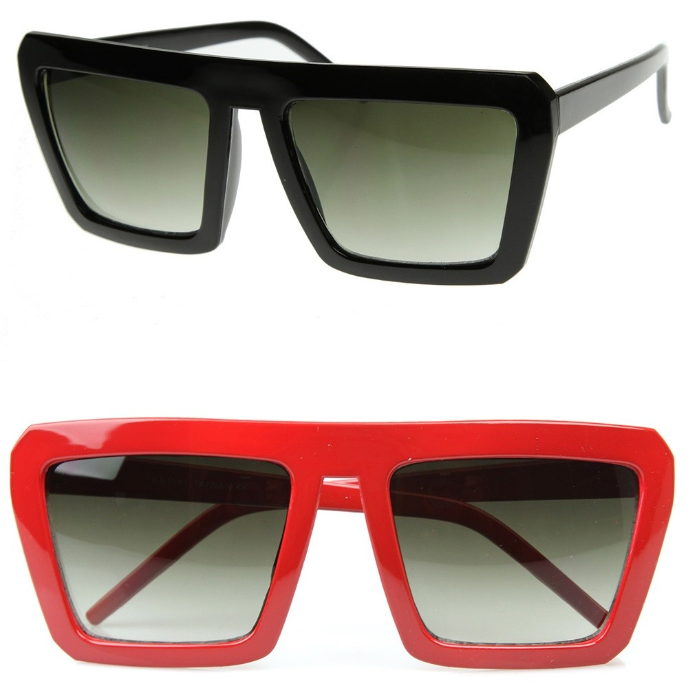 Sunglasses KISS® - OLD SCHOOL mod. SMOOTH - man woman FLAT TOP vintage rapper FREESTYLE