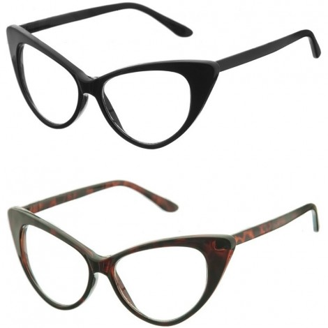 Glasses neutral KISS® - mod. The CAT-EYE NIKITA - optical frame, WOMEN vintage rockabilly