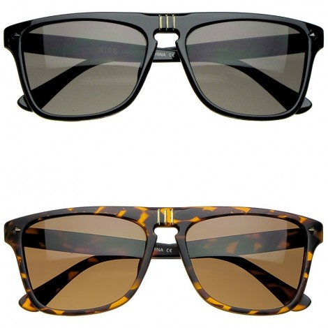 Gafas de sol KISS® - mod. MCQUEEN SQUARE - hombre mujer MOVIE STAR rectangular unisex VINTAGE