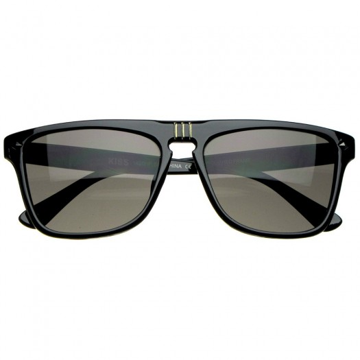 Sunglasses KISS® - mod. MCQUEEN SQUARE - man woman MOVIE STAR rectangular unisex VINTAGE