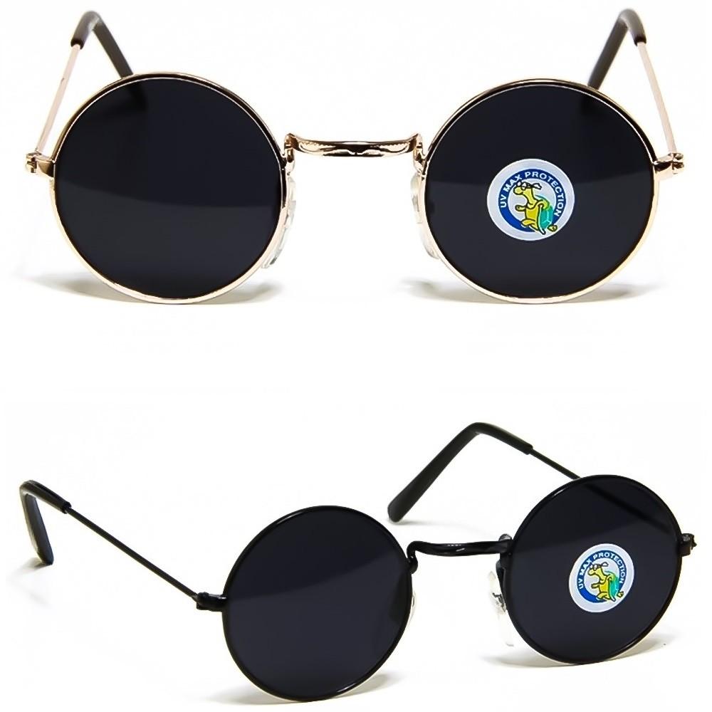Occhiali da sole Hippie - mod. TEASHADES Taglia Piccola - rotondi VINTAGE uomo donna unisex - Colore : GOLD