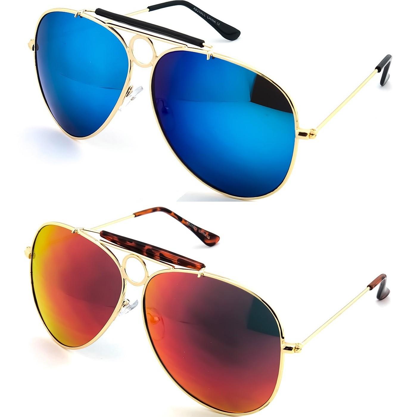 Sonnenbrille KISS® - mod. ANGST UND DELIRIUM cult movie - JOHNNY DEPP mann frau VINTAGE flieger-stil - Farbe : SCHWARZ / rot